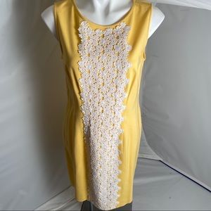 Suzie Chin for Maggy Boutique yellow sheath